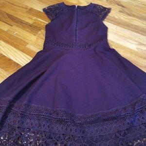 Forever new crochet plum dress